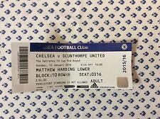 Chelsea v Scunthorpe United 2015-16 used MATCH TICKET