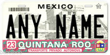 Quintana Roo Mexico Any Name Number Novelty Auto Car License Plate C03