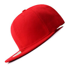 New Red FLAT Peak SNAPBACK Plain Blank Cap Dancer Hat Chapeau #flat #cap