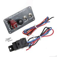 Racing Car Ignition Switch Panel Engine Start Starter Push Button LED Toggle 12V