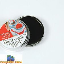 BLACK FACE PAINT GREASEPAINT 25g Fancy Dress Stage Make Up