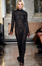 Emilio Pucci Black Embellished High Neck Evening Dress