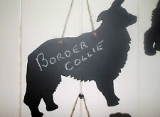 BORDER COLLIE DOG SHAPED chalk board black board Christmas birthday gift pet c