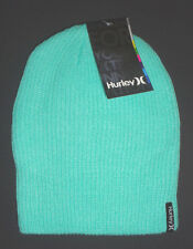 MENS HURLEY HAT GREEN AQUA BEANIE CAP ONE SIZE