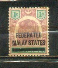 1900 Malaya Malaysia Overprint FMS 1c MH