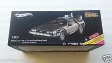 Hot Wheels Elite 1:18 Back To The Future Time Machine Mr. Fusion Die-cast DMC