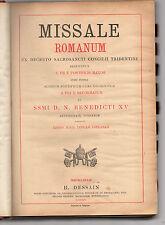 missale romanum ex decreto s.s.conc.tridentini editio machliniae dessan -belgio