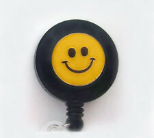 HAPPY SMILEY FACE Retractable Reel ID Badge Holder/Key chain/Security Card