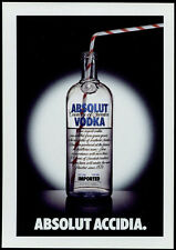 cartolina pubblicitaria PROMOCARD n.6069 ABSOLUT ACCIDIA VODKA collection n.322