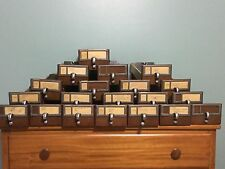 Vintage Index Card Catalog Cabinet Drawer School Library Wood