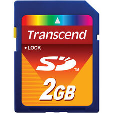 NEW Transcend 2GB 2 GB SD Secure Digital Flash Memory Card FOR OLDER CAMERAS