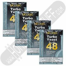 Alcotec 48 Hour Turbo Super Yeast Fast Fermenting Distilling Moonshine - 4 Pack