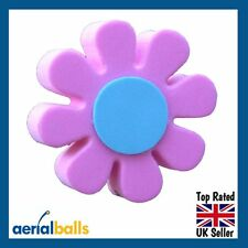 Pink & Blue Daisy Car Aerial Ball Antenna Topper