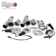 2X Electric Exhaust Muffler Valve Cutout System Dump Manually 2.5""