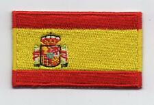 Embroidered SPAIN Flag Iron on Sew on Patch Badge HIGH QUALITY APPLIQUE