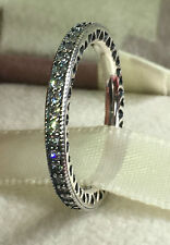 PANDORA HEARTS OF PANDORA RING 190963CZ, S925 ALE, SIZE 52 STERLING SILVER+POUCH