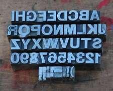Caractères plomb 13,5mm Tampon Alphabet Imprimerie Typographie Lettres imprimeur