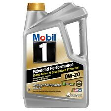 Full Synthetic Motor Oil 0W-20 5 qt Mobil 1 Extended Performance 15000 Miles Pro