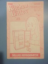 TYCO KITCHEN LITTLES DELUXE REFRIGERATOR INSTRUCTIONS ONLY