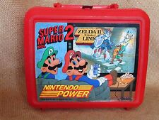 Nintendo Power Vintage Aladdin 1989 Lunchbox Super Mario Bros Zelda with thermos