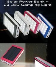 New 200000mAh Camping 20 LED Solar Power Bank External Battery Charger For Phone