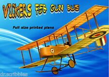 "MODEL AIRPLANE PLANS SPAN 18"" Co2 VICKERS F5B GUN BUS PLAN & BUILDING NOTES"