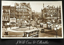 Old Postcard Of Piccadilly Circus, London 1950
