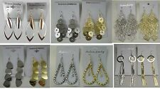 A-28 Wholesale Jewelry lots 10 pairs Gold Silver Plated Fashion Dangle Earrings