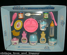 VINTAGE 1985 EVEN FLO 100% COMPLETE BABY DOLL FEEDING PRETEND FOOD BOTTLE TOY