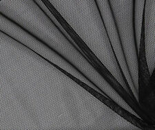 Black Stretch Power Mesh Dressmaking Fabric 160 cms Wide