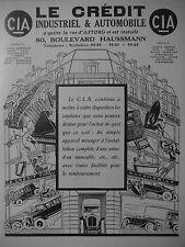 PUBLICITÉ 1925 LE CREDIT INDUSTRIEL & AUTOMOBILE - ADVERTISING