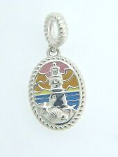2020-0802 CHAMILIA STERLING SILVER LIGHTHOUSE AT SUNSET BEAD NEW IN POUCH
