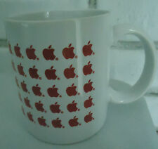 Apple Computer ceramic Mug w tiny red apples Thailand 3 1/2""