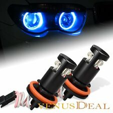 For BMW E60 E61 E63 E90 E92 M3 X6 Blue H8 LED Angle Eye Halo Ring Light Bulb