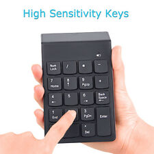 2in1 2.4GHz Wireless Calculator USB Numeric Keypad Teclado Numpad 18Keys PC