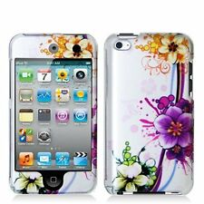 Design Crystal Hard Case for iPod Touch 4th Gen - Purple Flower