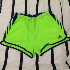 Adidas Neon Green & Violet Climacool Running Shorts size Small