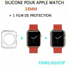 Housse coque protection transparent souple silicone gel apple watch 38MM + film
