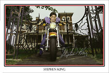 STEPHEN KING - HUGE SIGNED AUTOGRAPH POSTER PHOTO PRINT - ABSOLUTELY STUNNING
