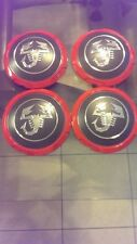 FIAT ABARTH 500 OEM, FACTORY WHEEL CENTER CAP SET