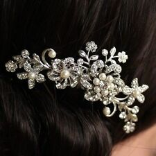VERY  PRETTY PEARL  FLOWER BRIDE/BRIDESMAID HAIR COMB