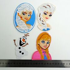 4pcs Anna Elsa Olaf Fabric Embroidered Iron and Sew On Patch Motif Appliqué