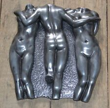 The Three Graces Wall Hanging Plaque Sculpture Hand Cast Unique