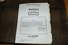 SNORKELIFT ECONOMY A80 4X4 Scissor Lift AERIAL WORK PLATFORM Parts Manual book