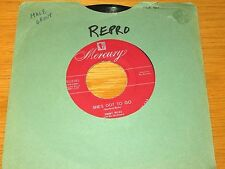 "REPRO DOO-WOP GROUP 45 RPM - THE RAVENS - MERCURY 70119 - ""SHE'S GOT TO GO"""