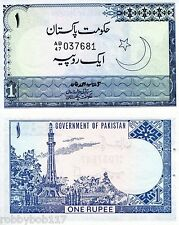 """PAKISTAN 1 Rupee Banknote World Money Currency BILL p24A Note """"aUNC"""" staple hole"""