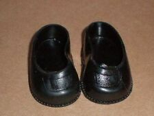 """pair of doll shoes, black/plastic/ 30/ 1  3/4"""""""