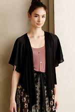 NEW Anthropologie Legato Fluttered Cardi by Weston, Black, Size XS