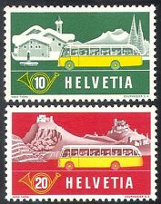 Switzerland 1953 Post Bus/Public Vehicles/Buses/Postal Transport 2v set (n24178)
