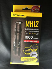 BRAND NEW NITECORE MH12 1000 Lumen Flashlight WITH 3200 MAH BATTERY